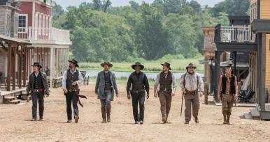 Denzel Washington;Chris Pratt;Ethan Hawke;Byung-hun Lee;Vincent D Onofrio;Manuel Garcia-Rulfo;Martin Sensmeier